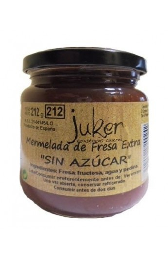 "Mermelada ""sin azúcar"" de Fresa Extra  Juker 212 gr"