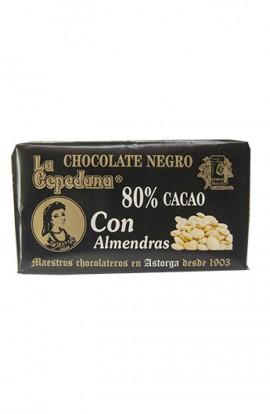 Chocolate Negro con Almendras La Cepedana 80% Cacao 200 gr