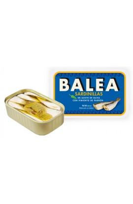 Conserva de Sardinillas en Aceite de Oliva con Pimiento de Padrón 16/20 p. Balea 115 gr