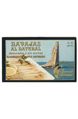 Conserva de Navajas al Natural 6/8 p. Conservas de Cambados 120 ml