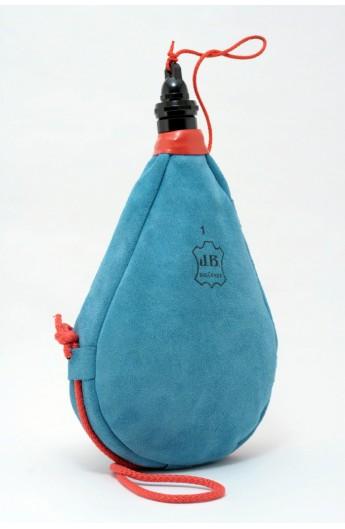 Bota de Vino Látex Recta Azul JB Sigüenza 1 L