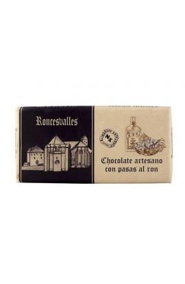 Chocolate Artesano con Pasas al Ron Roncesvalles 125 gr