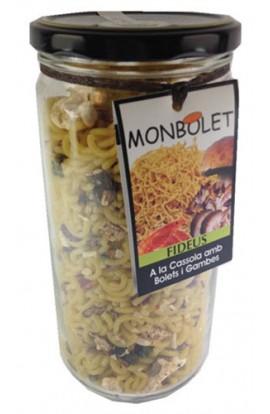 Fideos a la Cazuela con Setas y Gambas Monbolet 350 gr