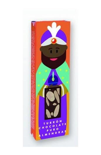 Turrón Chocolate Puro Almendras La Colmena - Minitablet Rey Baltasar - 50 gr