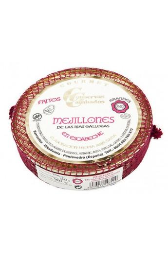 Mejillones de las Rías Gallegas en Escabeche Oliva 16/20 p. Grandes Conservas de Cambados Gourmet 280 ml
