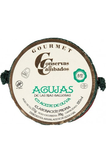 Agujas en Aceite de Oliva 8/12 Pequeñas Conservas de Cambados Gourmet 120 ml
