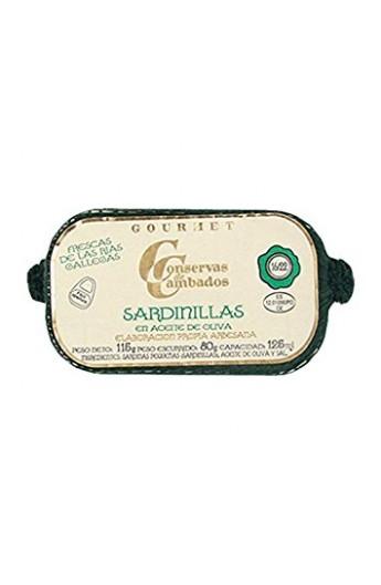 Sardinas en Aceite de Oliva 20/25 p. Conservas de Cambados Gourmet 125 ml