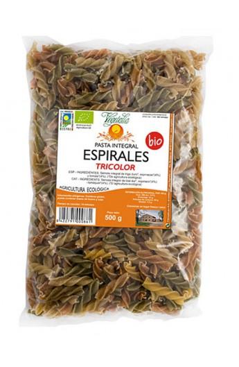Pasta Integral de Trigo Eco. Espirales Tricolor Vegetalia 500 gr