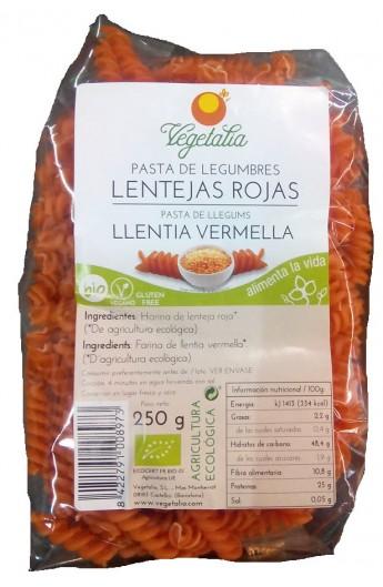 Pasta de Lentejas Rojas Eco. Espirales Vegetalia 250 gr