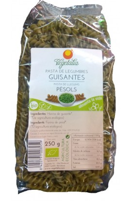 Pasta de Guisantes Eco. Espirales Vegetalia 250 gr