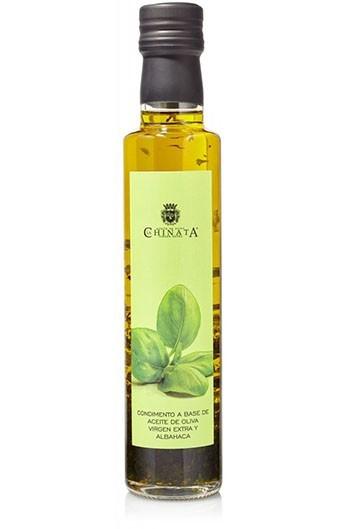 Aceite de Oliva Virgen Extra Condimento de Albahaca La Chinata 250 ml