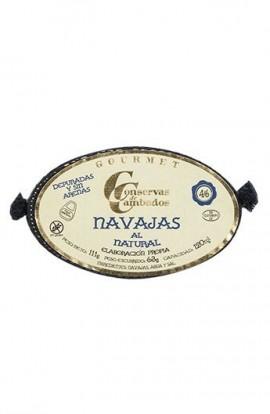 Conserva de Navajas al Natural 4/6 p. Conservas de Cambados Gourmet 120 ml