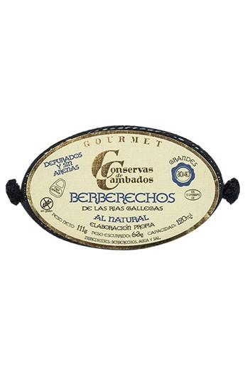 Conserva de Berberechos de las Rías Gallegas al Natural 30/40 p. Conservas de Cambados Gourmet 120 ml