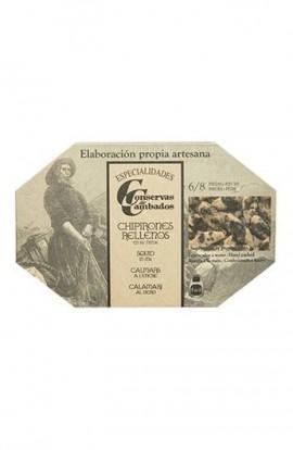 Chipirones Rellenos en su Tinta 6/8 p. Conservas de Cambados Gourmet 120 ml