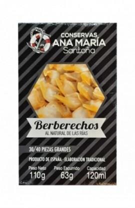 Berberechos Al Natural 30/40p Ana María 110 Gr