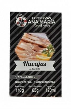 Navajas Al Natural 5/7p Ana María 110 gr