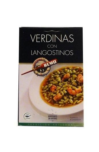 Alubias Verdinas con Langostinos Remo 430 gr