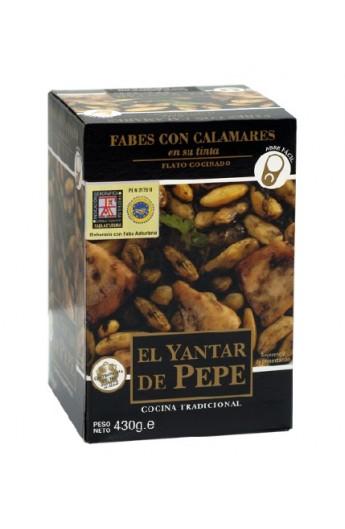 Fabes con Calamares El Yantar de Pepe 430 gr – I.G.P. Faba Asturiana