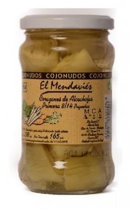 Corazones de Alcachofa de Tudela Extra 6-12 Frutos El Mendaviés 410 gr – I.G.P. Alcachofa de Tudela