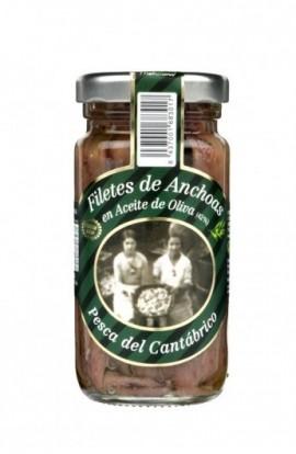 Conserva de Filetes de Anchoa de Santoña en Aceite de Oliva Ana María 95 gr