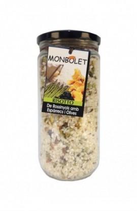 Risotto de Rebozuelos con Espárragos y Aceitunas Monbolet 500 gr