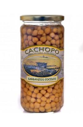 Garbanzos cocidos producción ecológica Cachopo 720 cc
