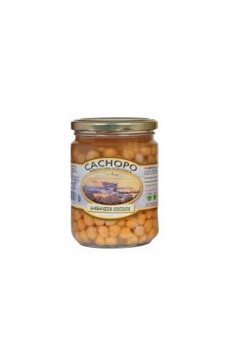 Garbanzos cocidos producción ecológica Cachopo 445 cc
