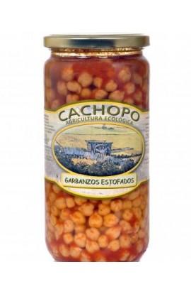 Garbanzos estofados producción ecológica Cachopo 445 cc