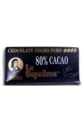 Chocolate Negro La Cepedana 80% Cacao 200 gr