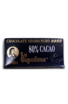 Chocolate Negro La Cepedana 80% Cacao 100 gr