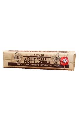 Chocolate con Leche y Nueces La Tierra del Artesano 300 gr