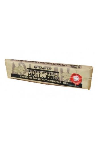 Chocolate con Leche y Almendras La Tierra del Artesano 300 gr