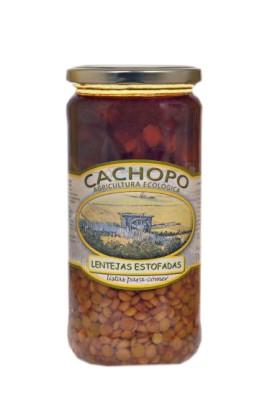 Lentejas estofadas producción ecológica Cachopo 445 cc