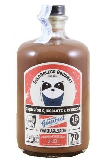 Licor Crema de Chocolate y Cerezas Gulagalega Gourmet 70 cl