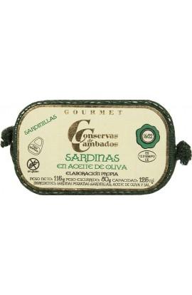 Sardinas en Aceite de Oliva 16/22 p. Conservas de Cambados Gourmet 125 ml